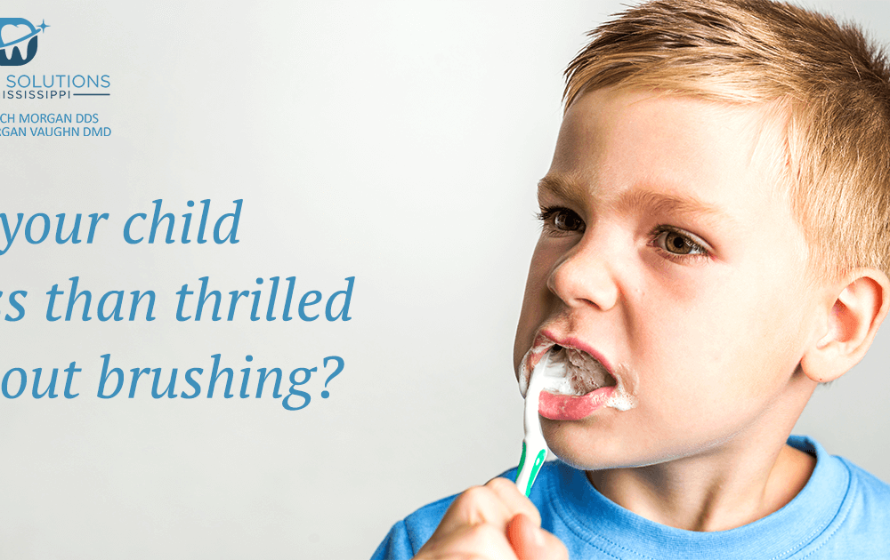 Is your child less than thrilled about brushing