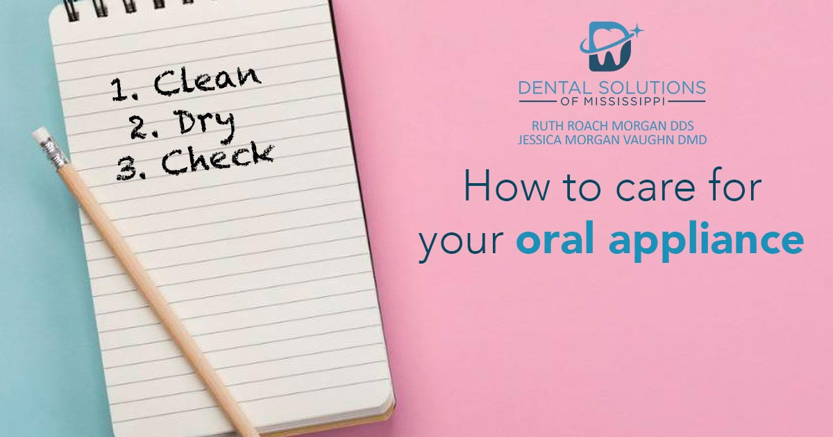 How to care for your oral appliance