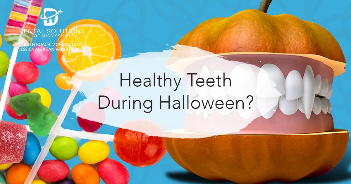Healthy teeth during halloween
